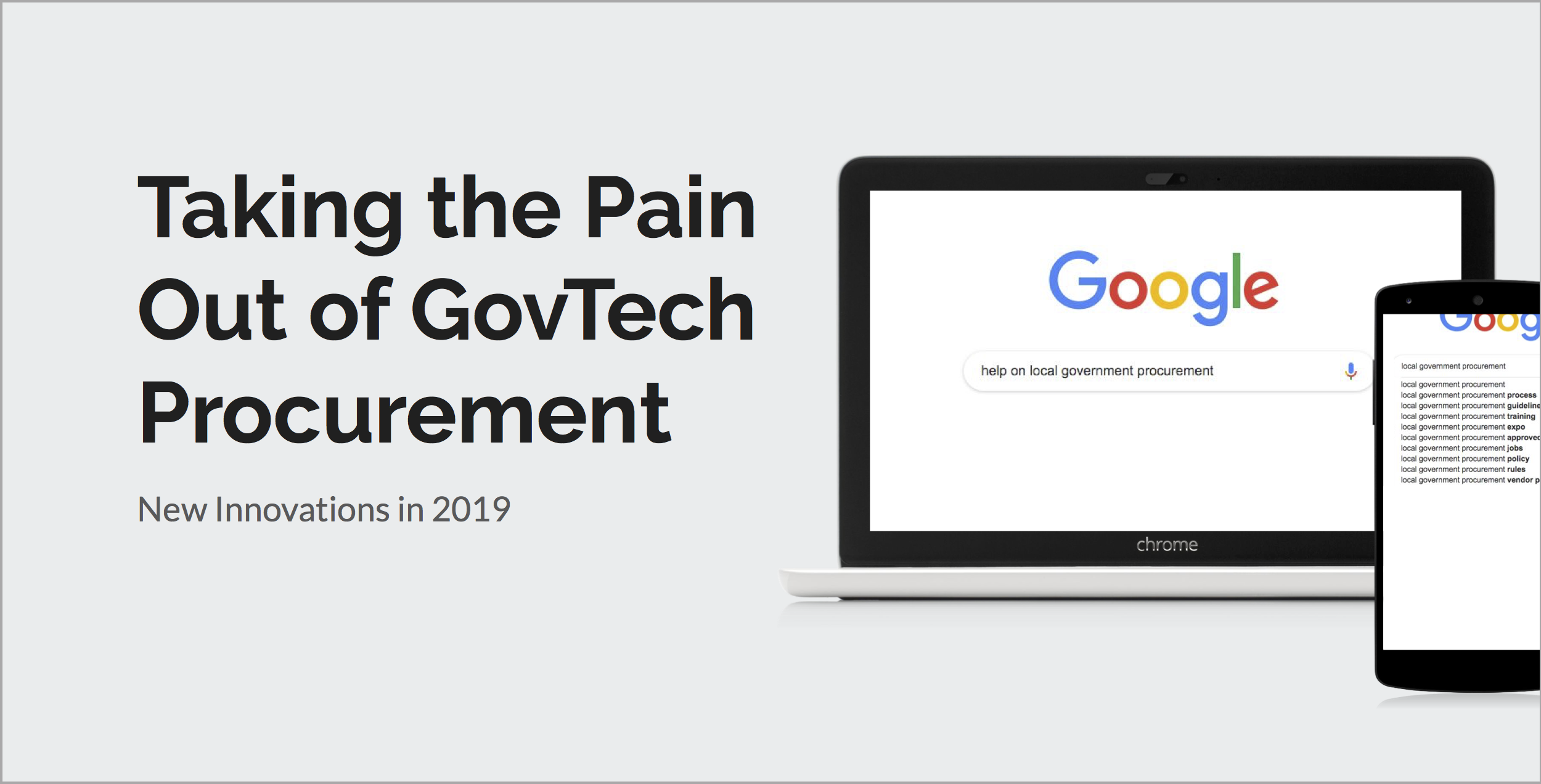 Taking the Pain Out of GovTech Procurement